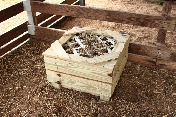 Finished Hay Slow Feeder